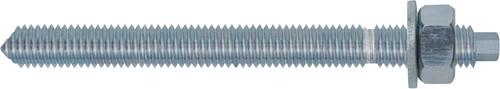 Draadstang verzinkt 5.8 - met moer en ring - 10 stuks. M8 x 160