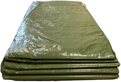 Afdekzeil voor hout groen - 6 x 1,5 meter