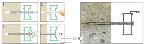 Betonschroef torx met verzinkte kop 5 of 7,5 mm- 100 stuks Betonschroef torx met kop 5 of 8,5: 7,50 x 100