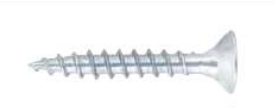 Spaanplaatschroef - pozi - voldraad - wit verzinkt - 4,0 x 60 mm - 25 stuks